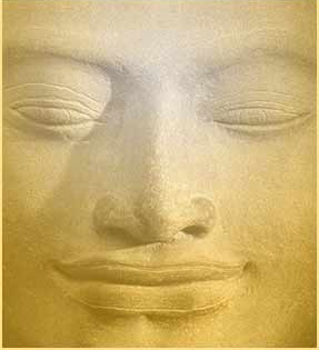 buddha's serene smile of metta
